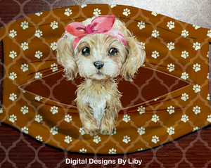 PEEK-A-BOO PETS LABRADOODLE GIRL (Center & Full Designs)