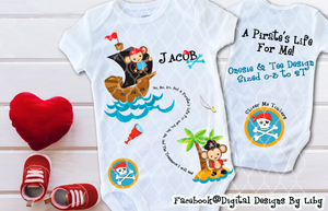 A PIRATE'S LIFE FOR ME! (Onesie & Tee Design)