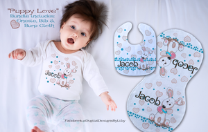 PUPPY LOVE (T-Shirt, Bib & Burpie Designs)
