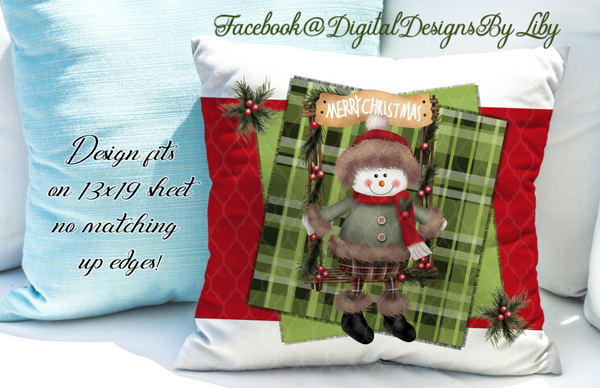 SNOWMAN IN SWING MEGA BUNDLE (Mug, Coaster, Pillows,Towels, Potholders & Flag)