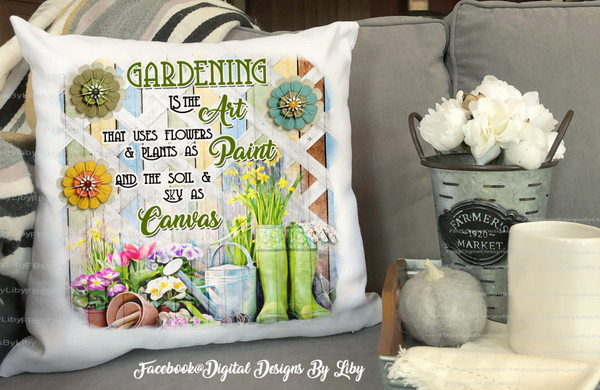 ART OF GARDENING (Flag & Pillow Design)