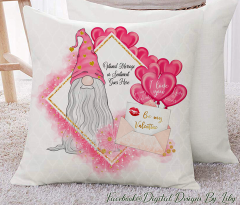 BE MY VALENTINES GNOME (Mug, Pillow Designs & More)