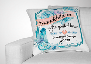 Grandchildren Spoiled Here Pillow, Slate & Photo Templates