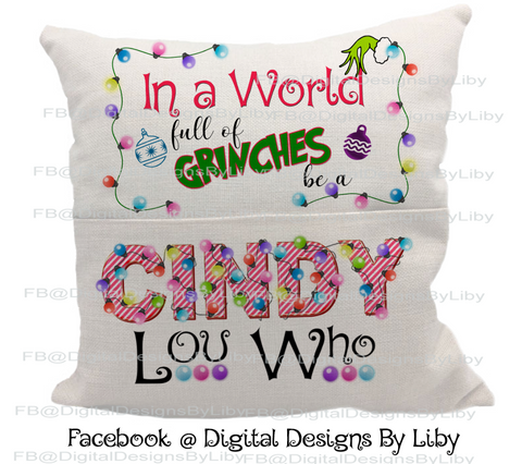CINDY LOU WHO (Pillow & Blanket Design)