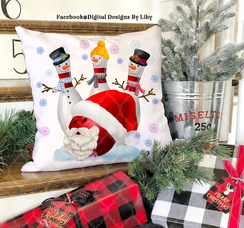 BOWLING CHRISTMAS TRIO (Mug, T-Shirt Designs & More)
