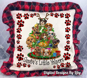 SANTA'S LITTLE YELPERS MEGA BUNDLE (T-Shirt, Towel, Pillows, Mat, Flag & More)