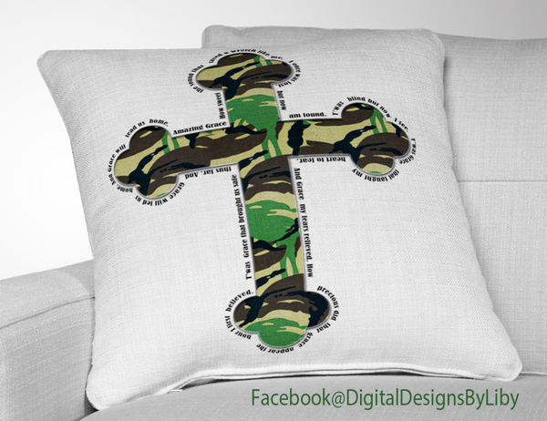 AMAZING GRACE CAMO CROSS (2 designs)