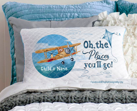 OH, THE PLACES YOU'LL GO!  (Pillow &  T-Shirt Designs)