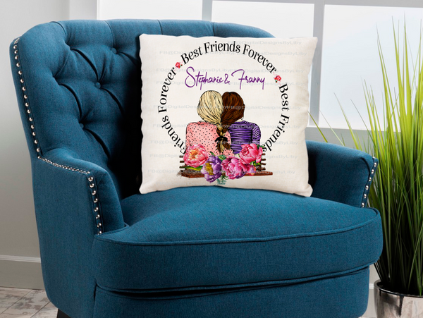 Best Friend Forever BFF (PILLOW & More Template)