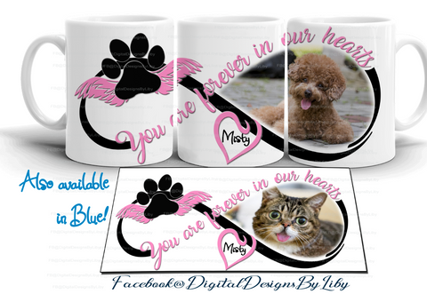FOREVER IN OUR HEARTS PINK (Designs for T-Shirt, Mugs & More)