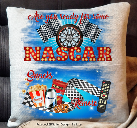 NASCAR NIGHT! (Pocket Pillow,Blanket & Mug Designs)