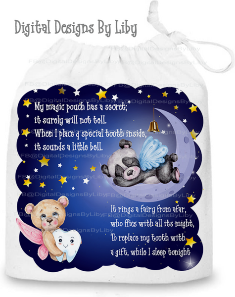 TOOTH FAIRY BEARS PILLOW & POUCH DESIGNS