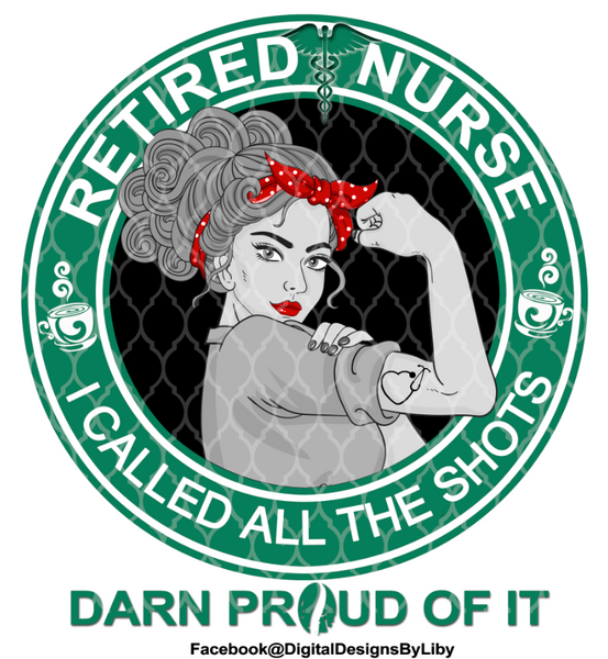 RETIRED NURSE T-SHIRT & MUG (2 DESIGNS INCLUDED)