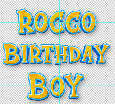 ROCCO BIRTHDAY BOY
