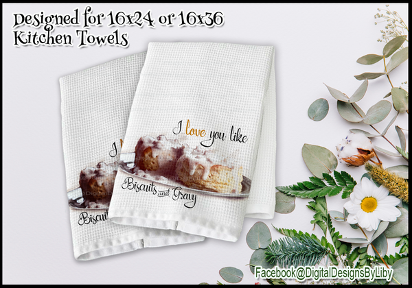 Kitchen Lovin Towel Collection  SET ONE (2 Towel Designs)