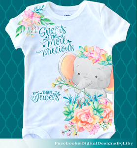 SHE IS PRECIOUS (Full Onesie & Tee Design)