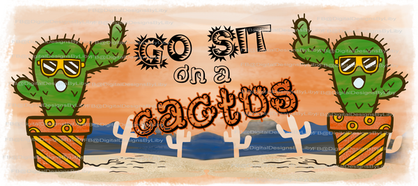 Sit On Cactus Mug Template