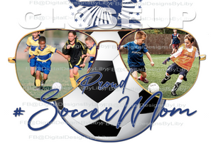 PROUD SOCCER/FOOTBALL MOM/MUM/DAD (T-Shirt, Mug & Mouse Pad Designs)