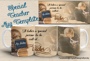 Special Teacher Mug Template