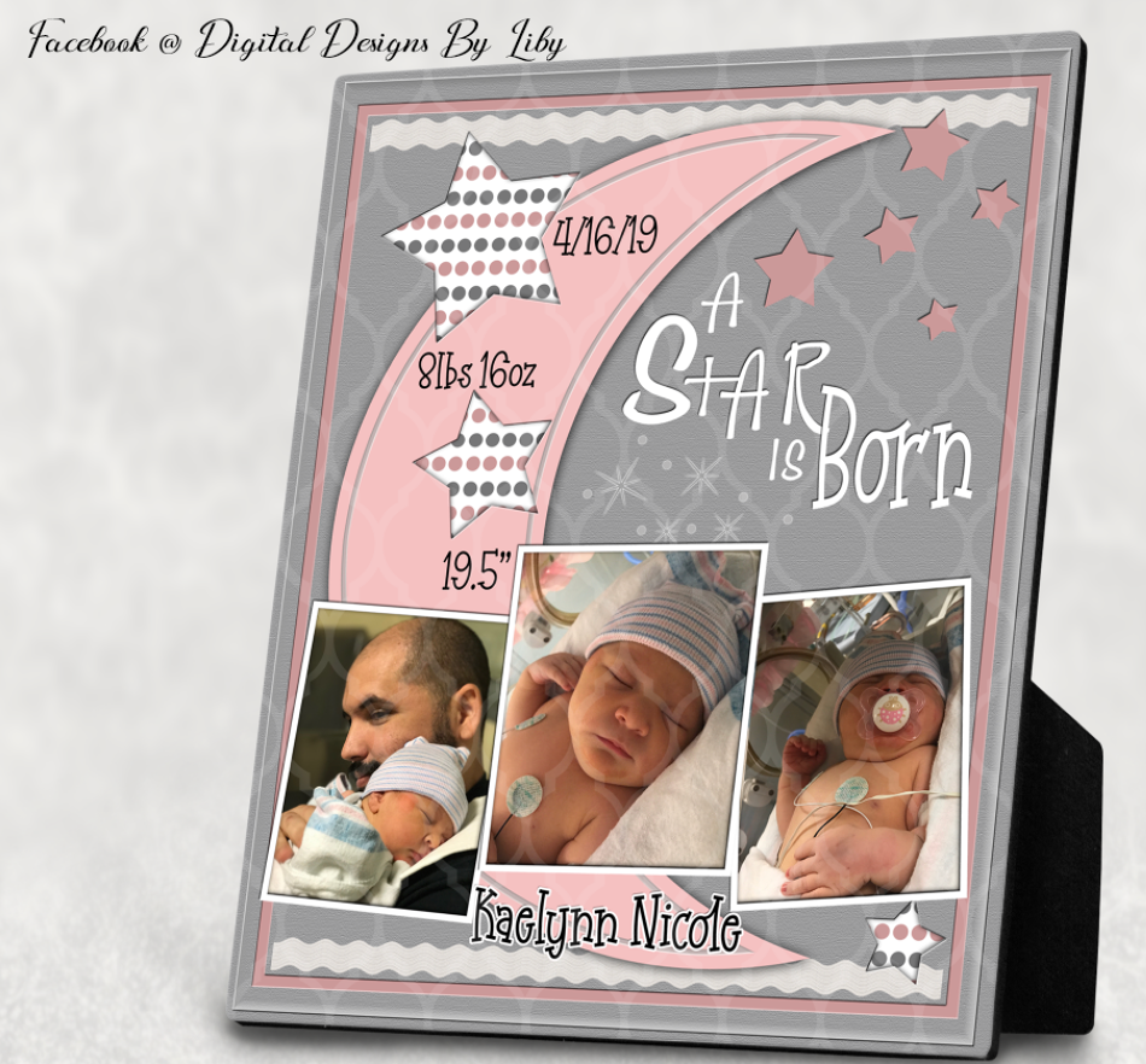 A STAR IS BORN! BABY GIRL Announcement Bundle