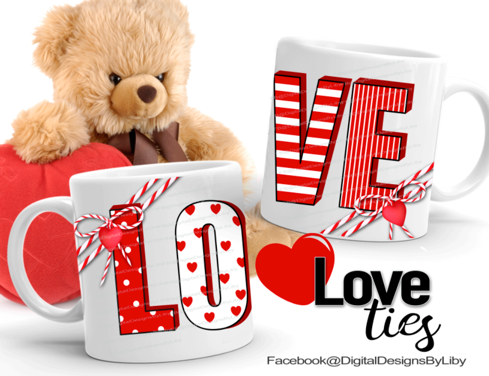 LOVE TIES MUG TEMPLATE
