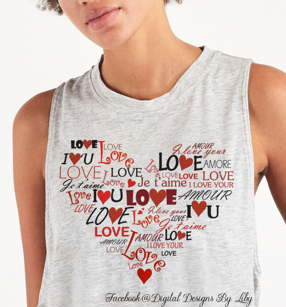 WORDS OF LOVE II (2 Designs for Mugs, T-Shirts, Pillows & More)