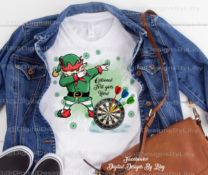 DABBING ELF DART PLAYER (Mug, T-Shirt Designs & More)