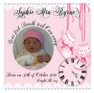 BABY GIRL ANNOUNCEMENT - SOPHIE