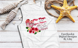 Flip Flops are Glass Slippers T-Shirt, Mug & Coaster Designs