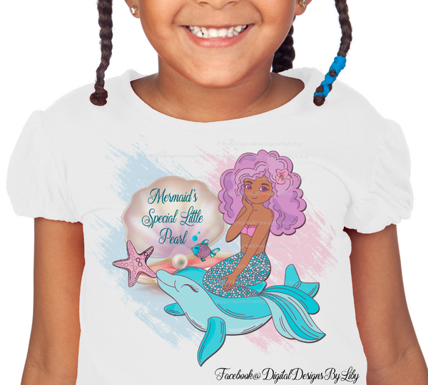 MERMAID'S LITTLE PEARL (Pillow, T-Shirt, Onesies Designs+Mockups)