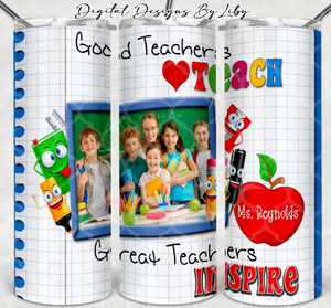 TEACHERS INSPIRE 20oz SKINNY TUMBLER