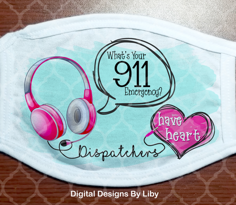 911 DISPATCHERS HAVE HEART - PINK