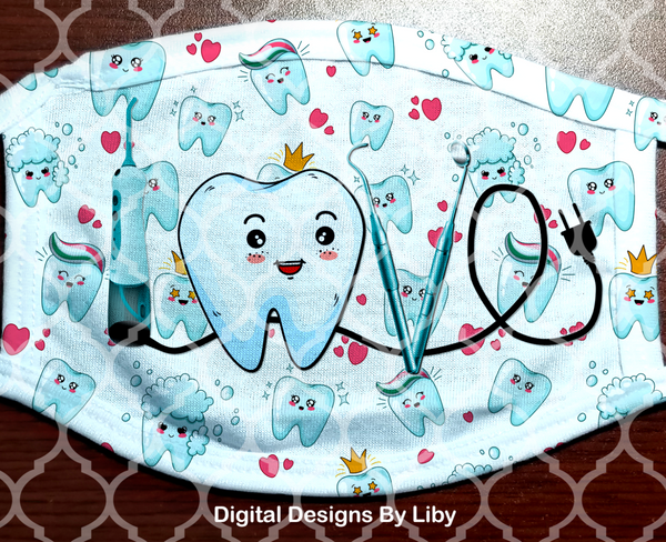 DENTIST LOVE (2 Full & 2 Center Designs)