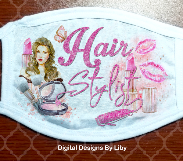 HAIR STYLIST (2 Designs included for  Light & Dark Skin Hairstylists)
