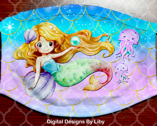 LITTLE MERMAID & FRIENDS (Full & Center Designs)
