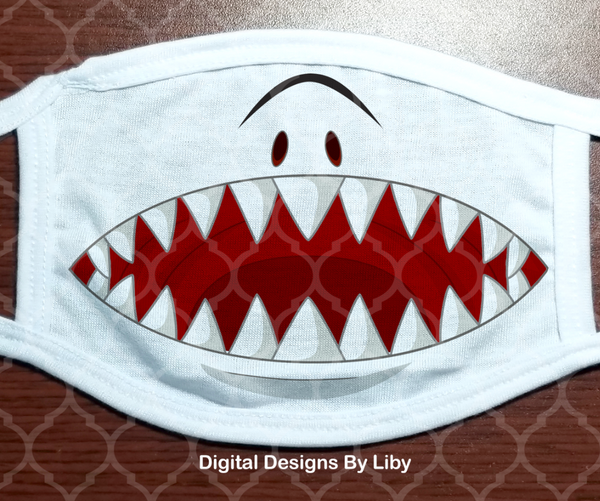 SHARK FACE (2 Designs- Nice & Scary)