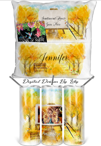 COLOR MY WORLD MEGA BUNDLE (Pencil Wrap, Pocket Pillow, Skinny Tumbler & Mug)