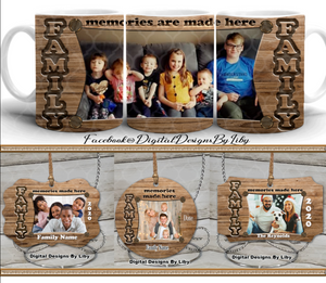 FAMILY MEMORIES MEGA BUNDLE (Mug, 4 Ornament Templates + 4 Mockups)