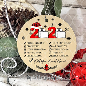 2020 SPECIAL EVENT ORNAMENT ROUND ORNAMENT + WORDART