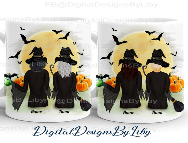 BFF WITCHES MUG (Comes with 14 hairstyles)