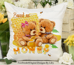 SWEET AS HONEY! (Design for Pillows, towels, mugs & more)