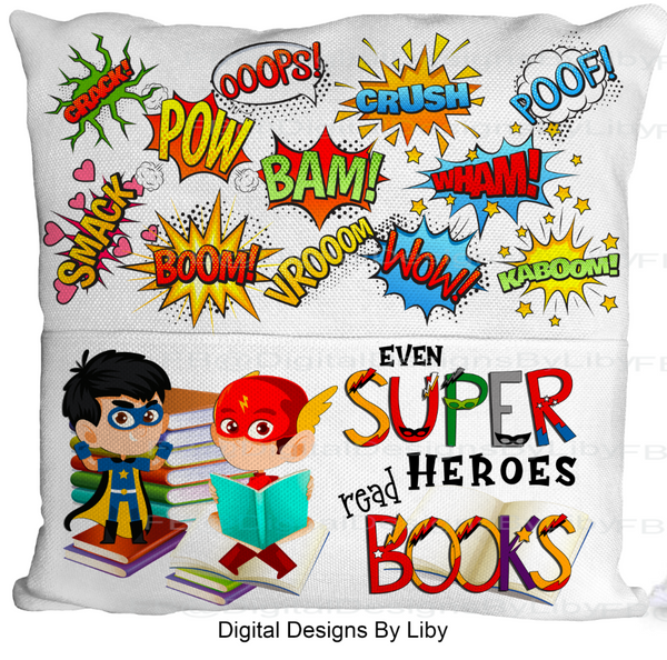 SUPER HEROES READ-BOYS VERSION (Light & Dark skin Designs)