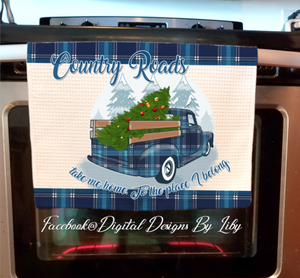 COUNTRY ROADS (2 Towels & Potholder Designs)