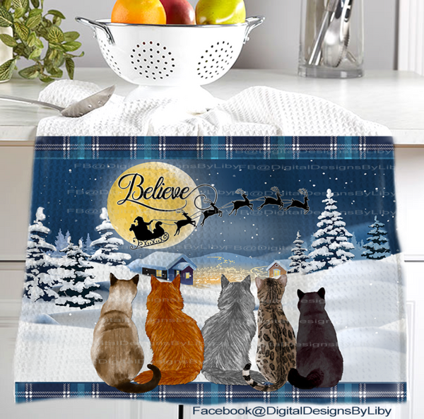 CATS BELIEVE MEGA BUNDLE (Mugs, Towels, Pillows & Mat)