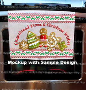 KITCHEN TOWEL MOCKUPS (3 PNG Files Included)