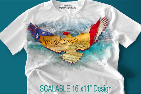 We The People T-Shirt/Apparel or Pillow Design Template
