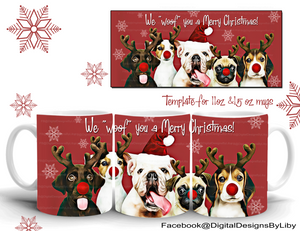 """WOOF"" YOU A MERRY CHRISTMAS (2 Designs)"