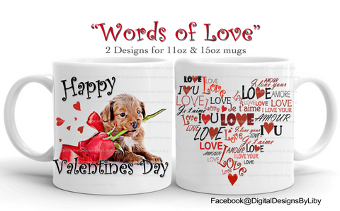 WORDS OF LOVE (2 Mug designs included)