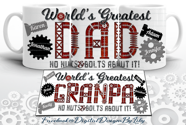 World's Greatest Dad & Grandpa T-Shirt & Mug Designs 3