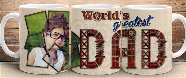 World's Greatest Dad & Grandpa Mug & Slate Design1